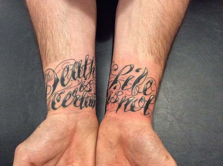 Tattoo by Jojo Miller, Dynamic Ink, Eternal Ink, tattoo placement, tattoo ideas, tattoos for men, tattoos for women, tattoos, wrist tattoo, tattoo quotes, words