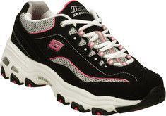 Celebrate sporty good looks and comfort with the SKECHERS D'Lites - Centennial shoe. This lace up sporty athletic training sneaker with stitching and overlay accents, features padded collar and tongue, soft fabric shoe lining, cushioned comfort insole, a D'Lites super lightweight shock absorbing ath