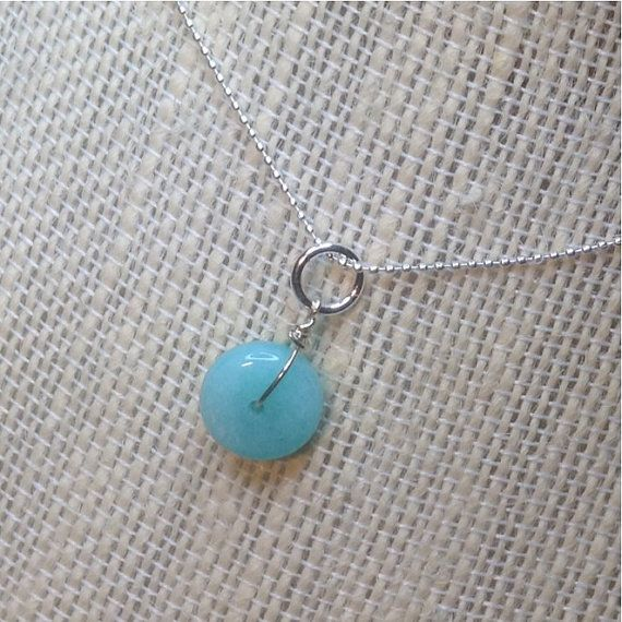 AA Wire Wrapped  Blue Amazonite Pendant  by MingJewelsChic on Etsy
