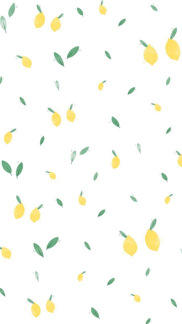 Summer Lemon iPhone Wallpaper Home Screen PanPins