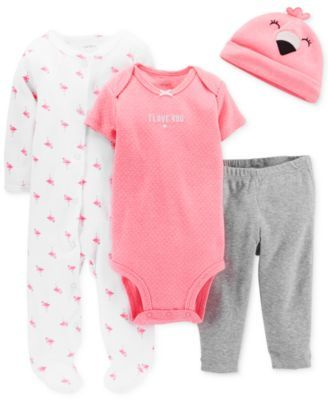 Carter's Baby Girls' 4-Piece Flamingo Set