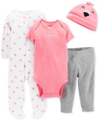 Carter's Baby Girls' 4-Piece Flamingo Set