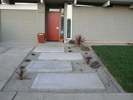 Best 25 modern front yard ideas on pinterest modern Modern desert landscaping ideas