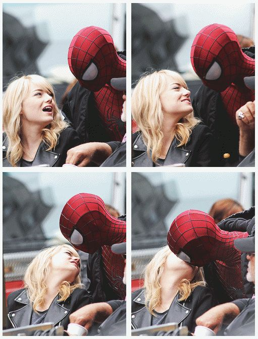MJ must be Emma Stone or else!no offense,I love Shai but she's just not the one for Peter! amazing spiderman behind the scene
