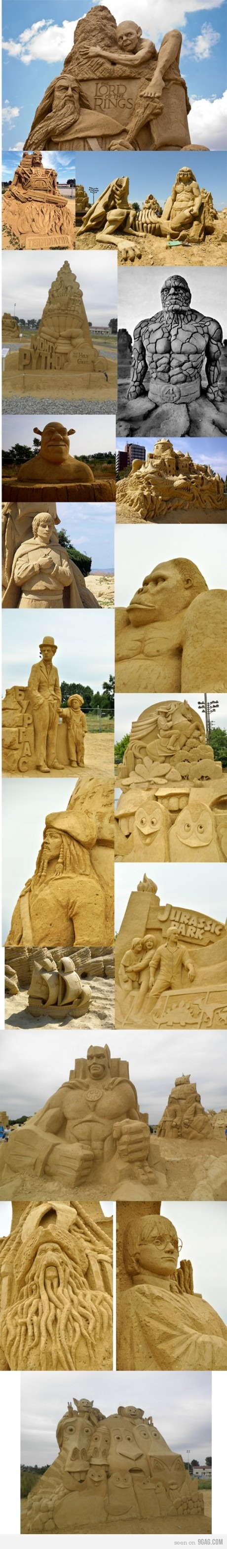 Bulgarian Sand Sculptures festival. Somehow they managed to make Harry Potter's glasses. WITH SAND.