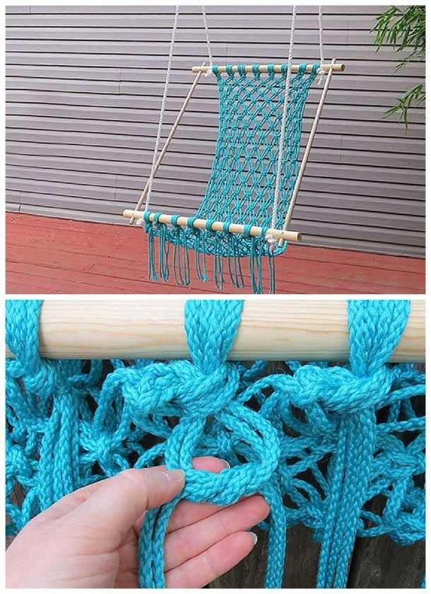 Father's Day DIY Gift Idea -Do It Yourself Projects - DIY Macrame Hammock Chair Tutorial via eHow