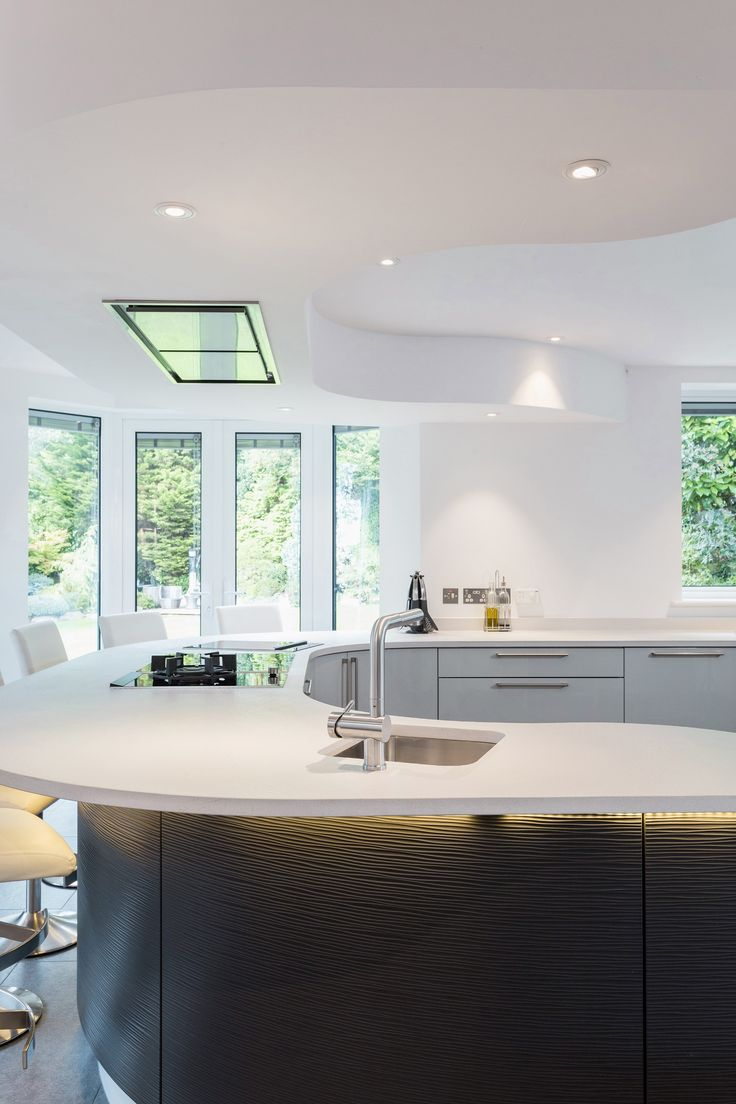 12 best Metris Dove Grey Gloss Kitchen with Textured Graphite Curved ...