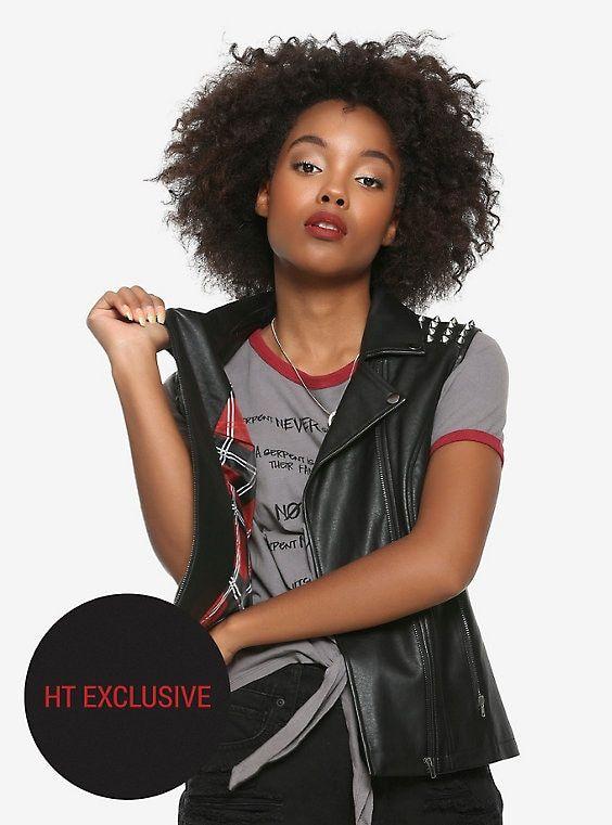 ab7a7c5b82e Riverdale Toni Southside Serpent Faux Leather Girls Vest Hot Topic  Exclusive
