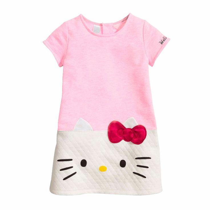 New Year Girls Clothes hello kitty Girls dress Christmas dress for girl Princess Dress Baby Cotton Dress children clothing