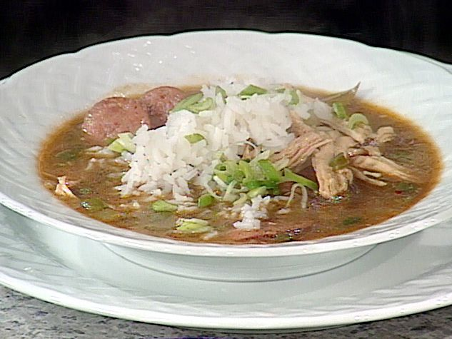 Get this all-star, easy-to-follow Turkey Andouille Gumbo recipe from Emeril Lagasse.