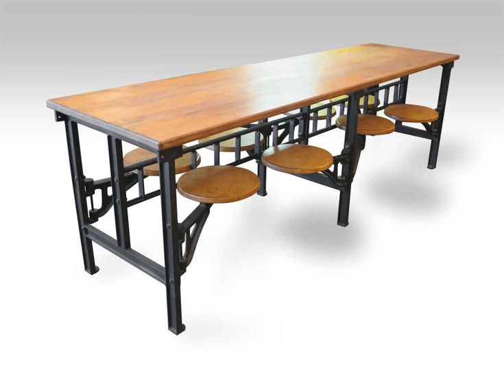 Eight Seat Swing Chair Industrial Factory Table