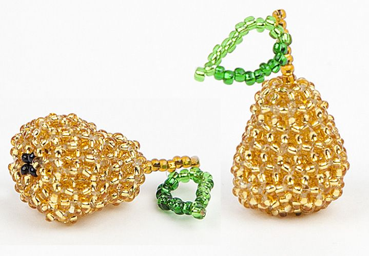 A 3D Beaded Pear Pattern | Bead-Patterns.com