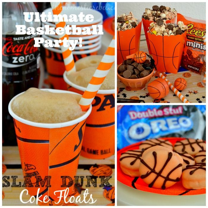 Host the ULTIMATE Basketball Party with my fun basketball-themed treats, like Slam Dunk Coke Floats, OREO Basketballs, and REESE'S Three Point Shot Popcorn! #unbelievablemoments #ad