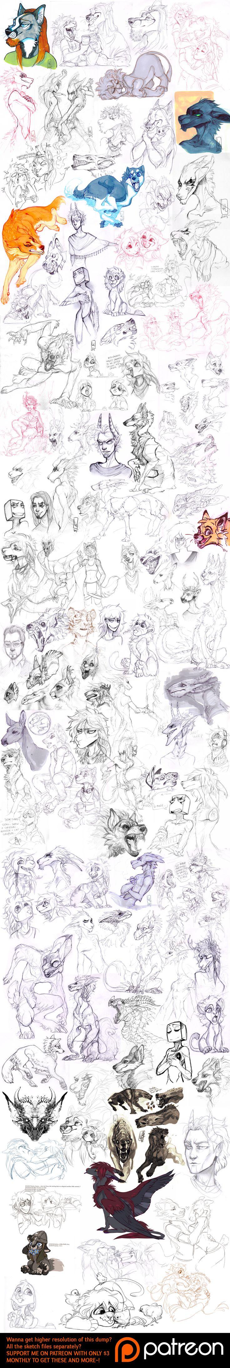 Sketch dump 60 by LiLaiRa on DeviantArt