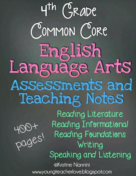 Wow! 400+ page 4th Grade English Language Arts Common Core Assessments and Teaching Notes!! Teaching notes that are SUPER helpful to break down the standards for teachers!! Super helpful to see what needs to be taught this year!! $
