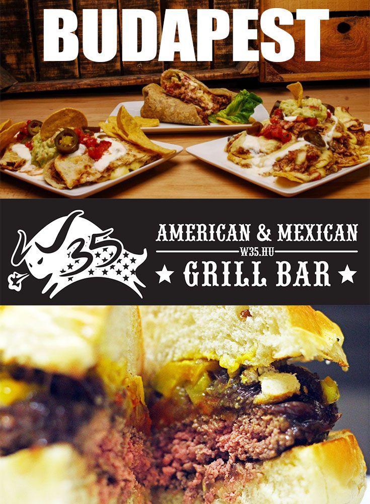 W35 | American & Mexican Grill Bar | Burger, Soup, Quesadilla, Burrito, Nachos
