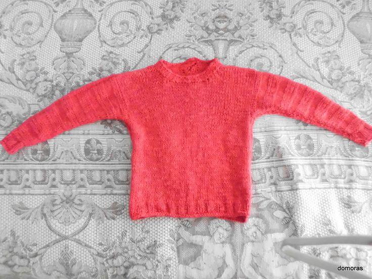 Sicilia Italia - Handknitted: LUCIA RUVIDA, kid's jersey in cotton or linen/cotton from the line Ypspigraccia - domoras