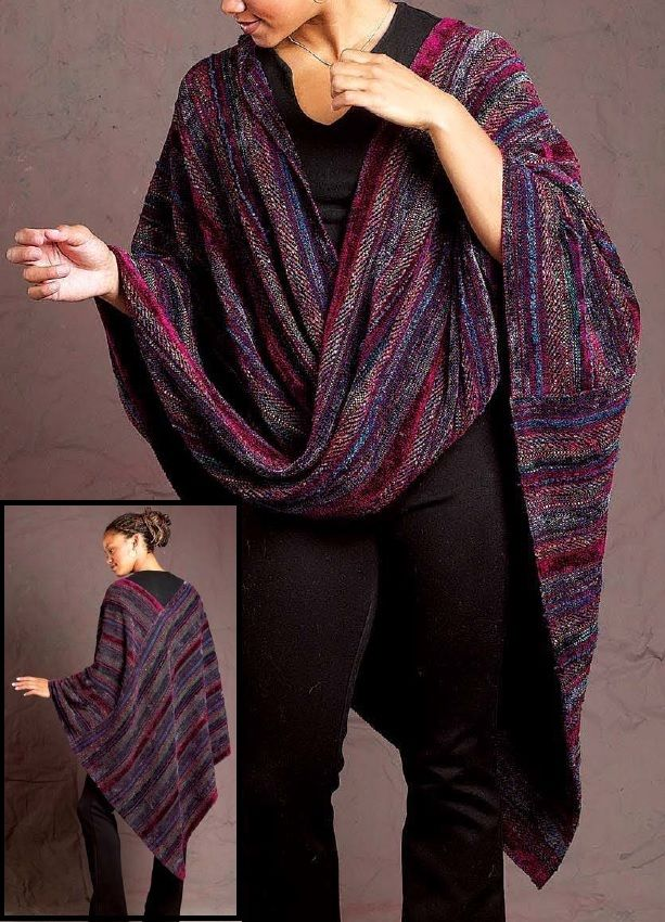 Love this gorgeous moebius shawl! Very comfy, and woven on either 4 or 8 shafts.