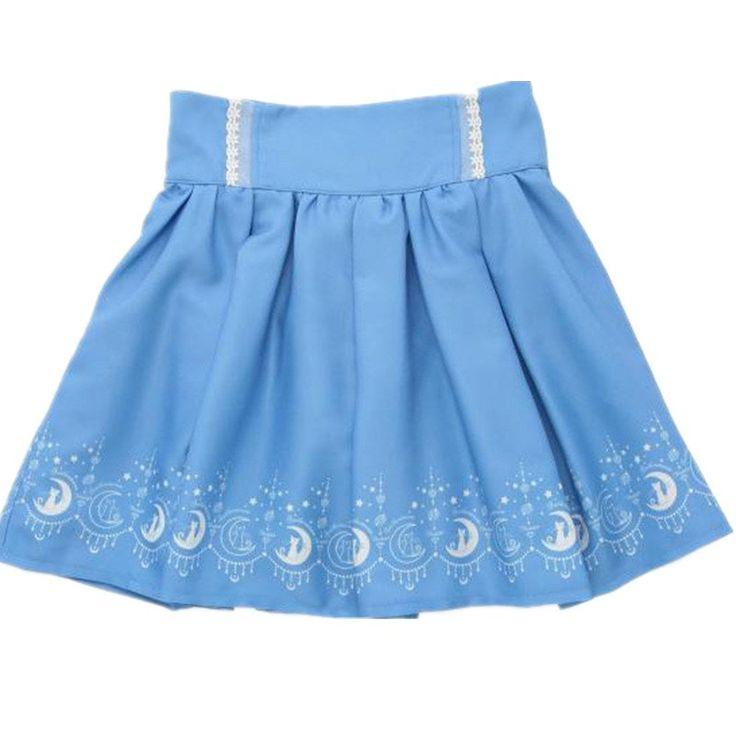 Estilo de muy buen gusto tralala juniors de la mujer cat impreso lindo faldas plisadas Anime sailor moon Kawaii lolita faldas mujer de ropa para en Faldas de Moda y Complementos Mujer en AliExpress.com | Alibaba Group