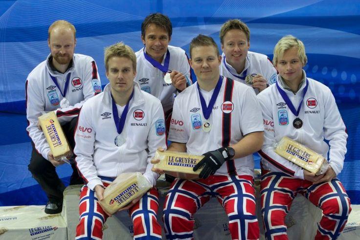 Le Gruyère European Curling Championships 2014 - Podium & Presentation