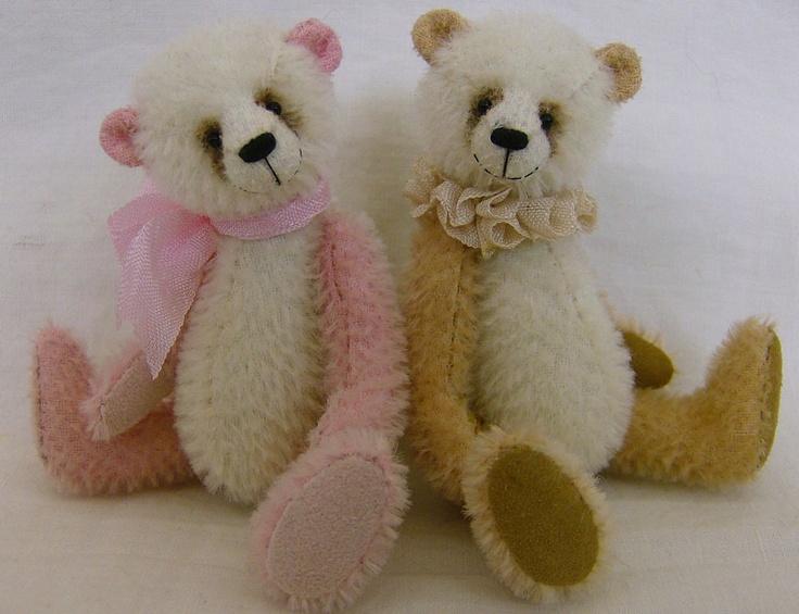 Pattern or kit for a miniature teddy bear available from our Essential Bears Etsy store