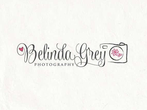 Photography logo design and camera logo by AquariusLogos on Etsy