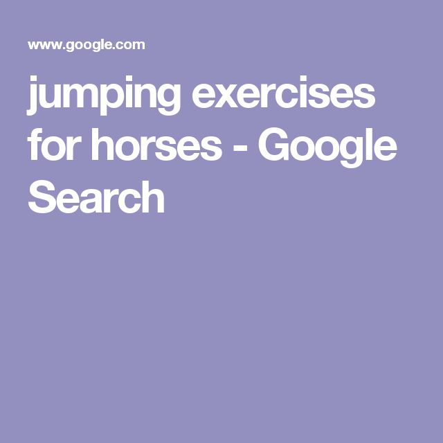 jumping exercises for horses - Google Search