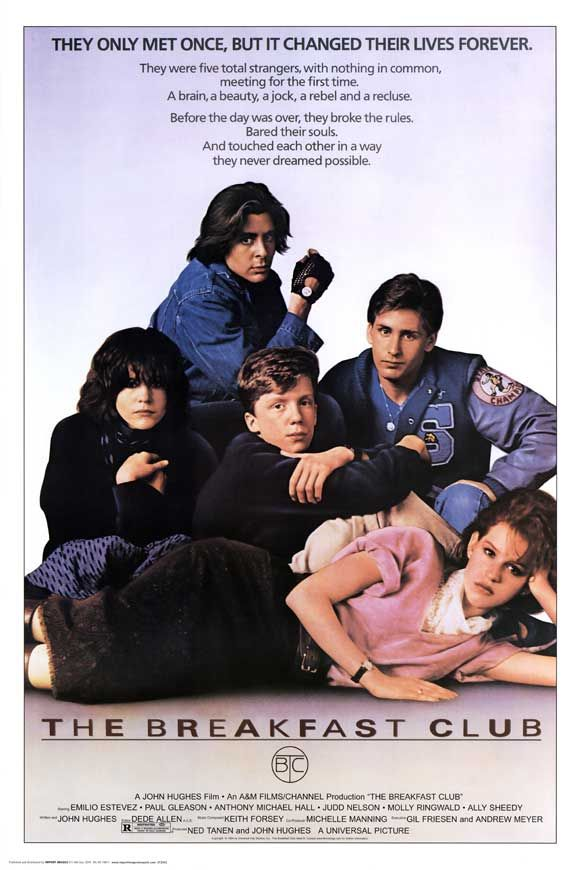 The Breakfast ClubFilm, Great Movie, 80S, The Breakfast Club, Classic Movie, John Hugh, Thebreakfastclub, Favorite Movie, High Schools