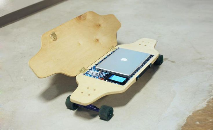 briefskate safely stores your belongings while you cruise