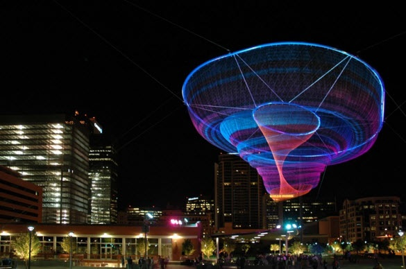 Spectacular Floating Sculptures by Janet Echelman from America