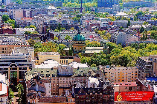 Een schitterend #uitzicht over #kleurrijk #Warschau, #Polen. #stedentrip #reizen #TravelBird