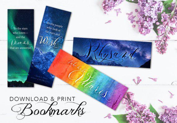 Acotar Inspired Bookmark Pdf Download You Get All 4 Diy