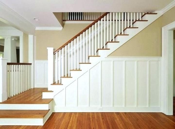 Chair Rail Molding Ideas Best Images About Wainscoting Painting On Red Up Stairs Installing Stair Wa Wainscoting Styles Wainscoting Wainscoting Stairs