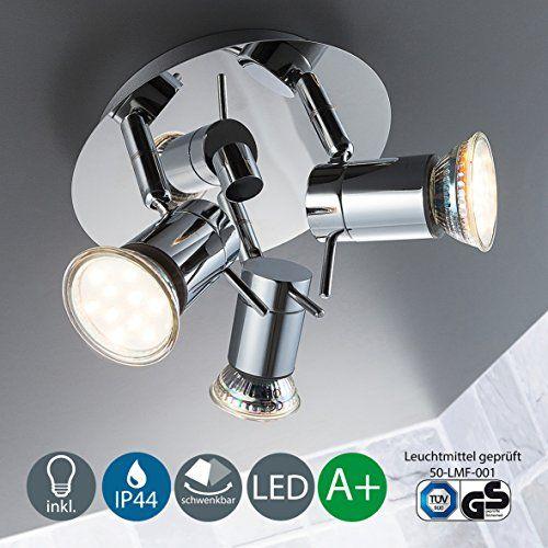LED Baddeckenleuchte Schwenkbar Inkl. 3 x 3W Leuchtmittel... https://www.amazon.de/dp/B01HQ96NC6/ref=cm_sw_r_pi_dp_x_tGKwzbSSP5FGR