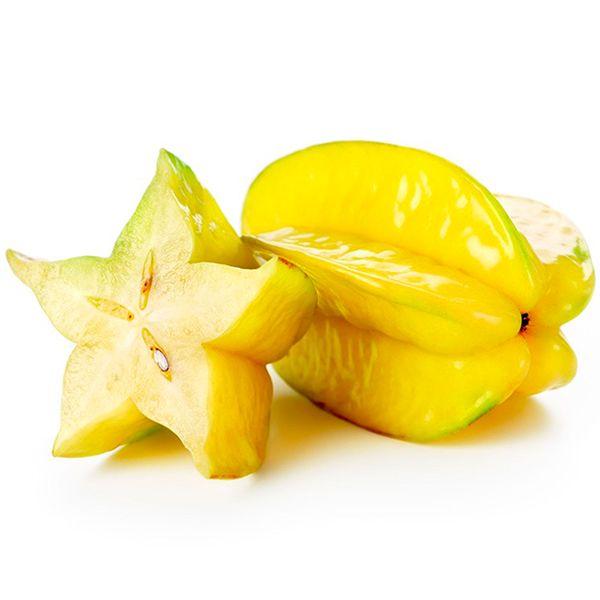 Yıldız Meyvesi- Star Fruit- Carambola İçi sulu, kabuğu gevrek olan meyvenin her yeri yenebilir. Boyuna 5 çıkıntısı olan meyve, ortasından kesildiğinde yıldıza benzer. C vitamini ve antioksidan bakımından zengindir.