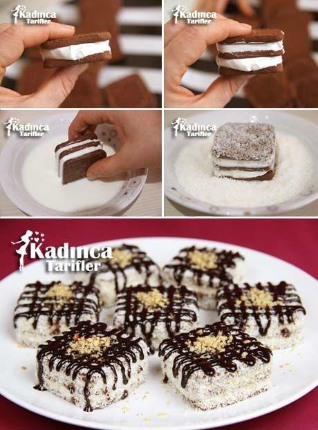 Bisküvili Porsiyonluk Pasta Tarifi Kadincatarifler.com - En Nefis Yemek Tarifleri Sitesi - Oktay Usta