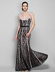TS+Couture®+Formal+Evening+/+Military+Ball+Dress+-+Vintage+Inspired+Plus+Size+/+Petite+Sheath+/+Column+Straps+Floor-length+Lace+with+Beading+/+Lace+–+GBP+£+232.32