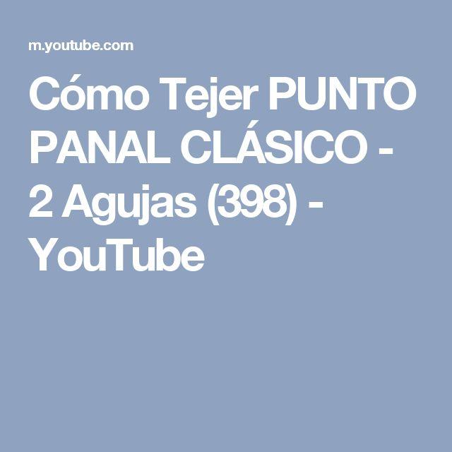 Cómo Tejer PUNTO PANAL CLÁSICO - 2 Agujas (398) - YouTube