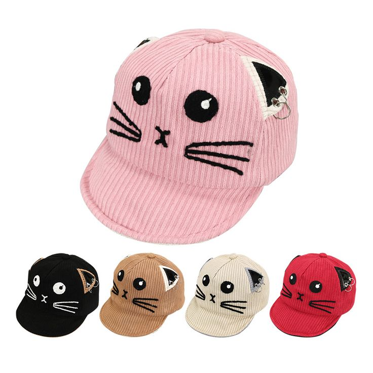 Cartoon Baseball Cap With Cat Ears Tag a friend who would love this! FREE  Shipping c1f8feb11fe