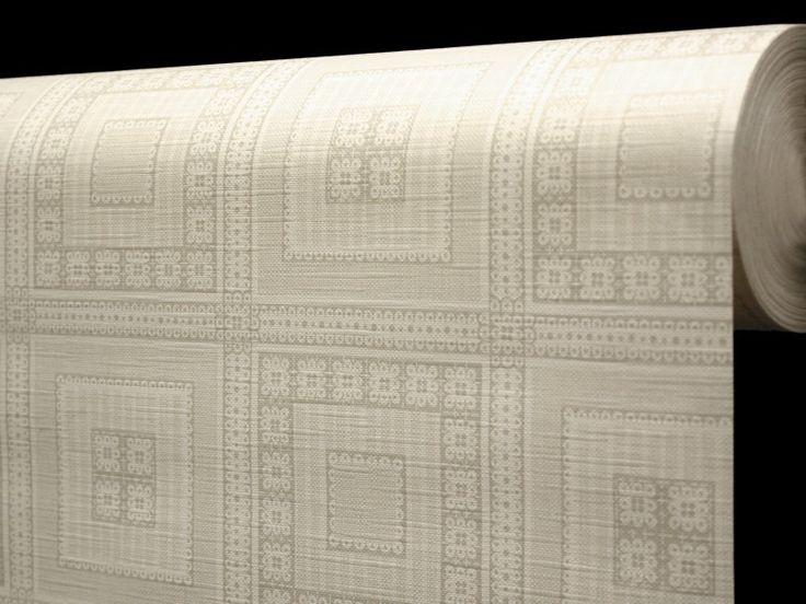 Ubrus PVC s textilním podkladem 5700710, béžové čtverce, š.140cm (metráž) | Internetový obchod Chci POVLEČENÍ.cz