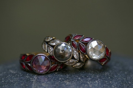 more Cathy Waterman engagement rings