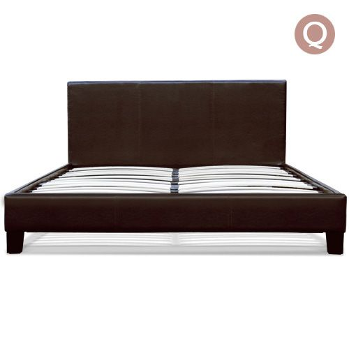 Adding a touch of elegance to your bedroom will no longer cost you thousands of dollars! As part of the Belmore series, this beautiful PU leather bed frame delivers a simple, yet contemporary look and feel that is tailored to match your home decor.  http://www.rosaelonline.com.au/product/queen-pu-leather-wooden-bed-frame-dark-brown-2/