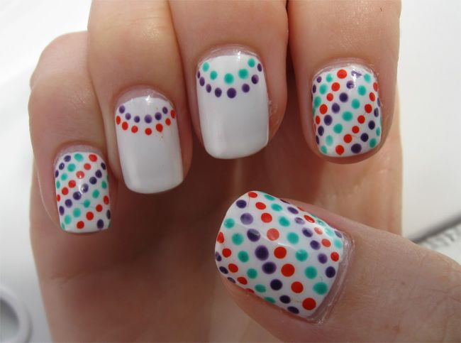 Funky Colored Nail Art Trend for Summer