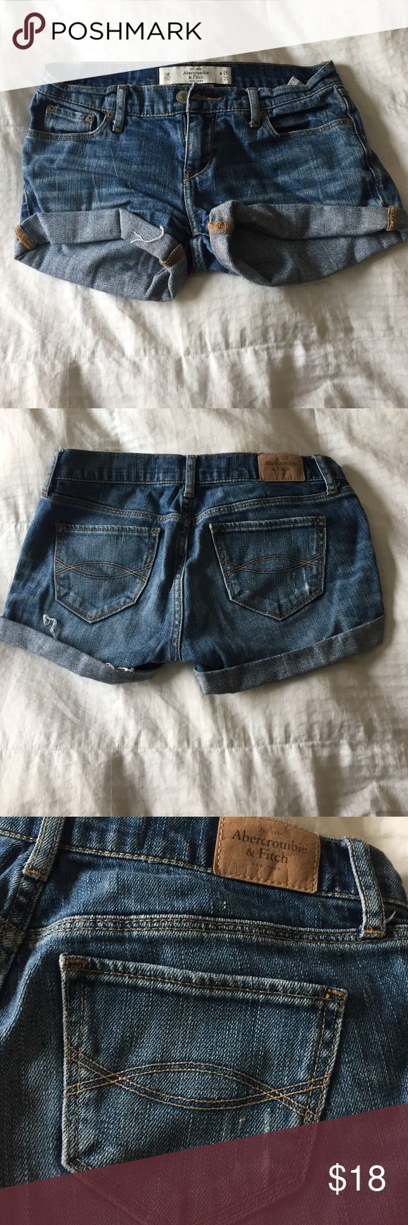 HAND CUT JEAN SHORTS CUT FROM PANTS FIT GREAT Abercrombie & Fitch Shorts Jean Shorts