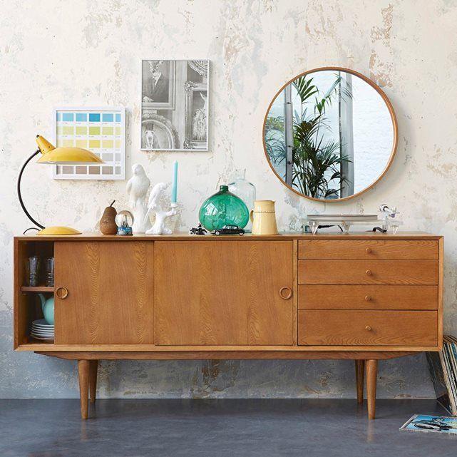 Un esprit vintage pour ce miroir au look année 50, épuré et naturel