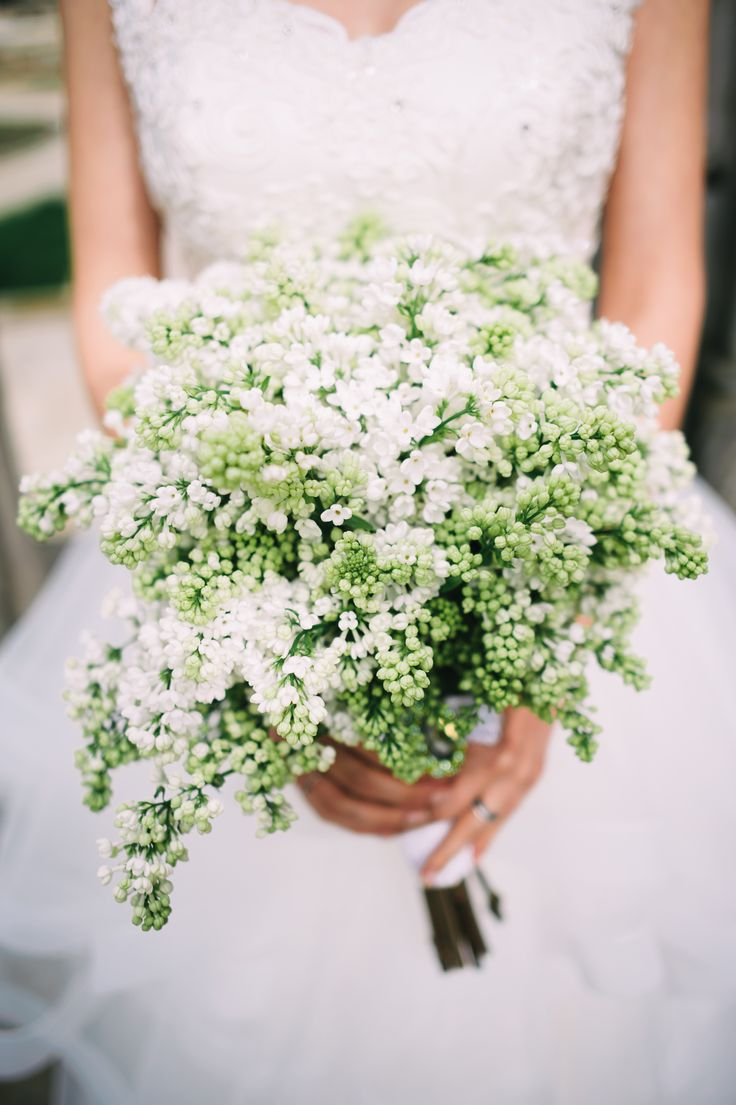 White Lilac Wedding Bouquet Pastel Wedding Flowers