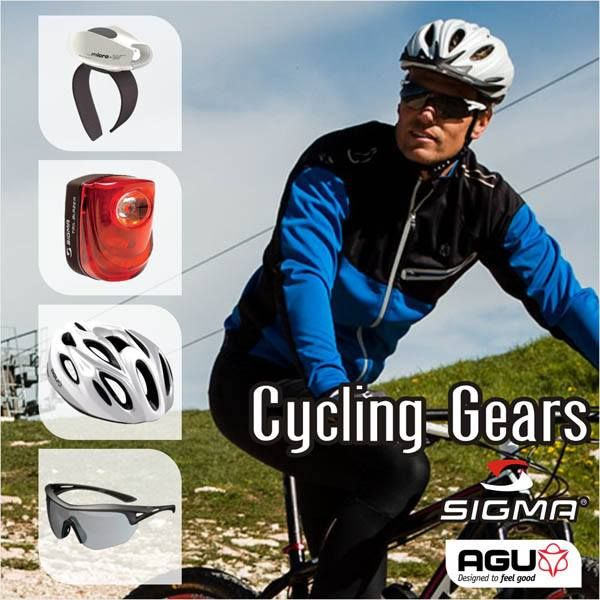 Introducing Cycling Gears from Sigma and AGU at SafetyKart.com!