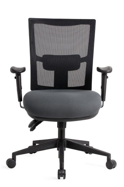 The Empact Mesh features a supportive upright Mesh back that breathes and allows airflow #seated #office #mesh #armrest seated.com.au