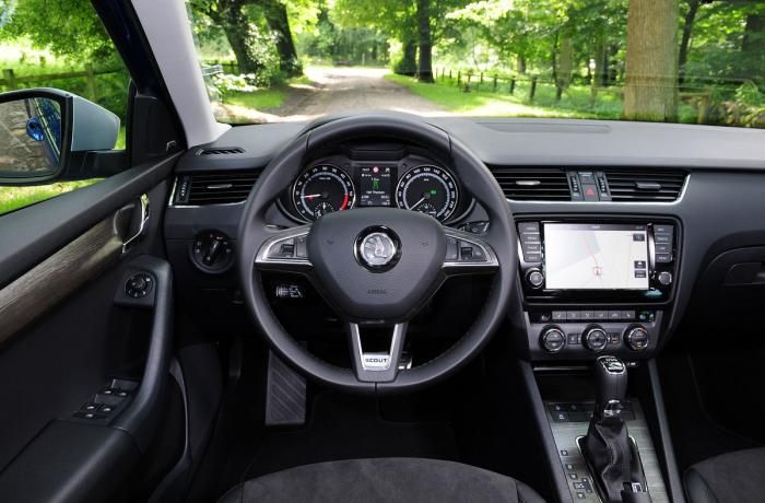 Interior of the 2014 ŠKODA Octavia Scout. #skoda #cars #octavia