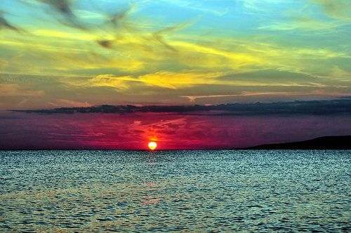 sunset in the sea ~~~~~~~~